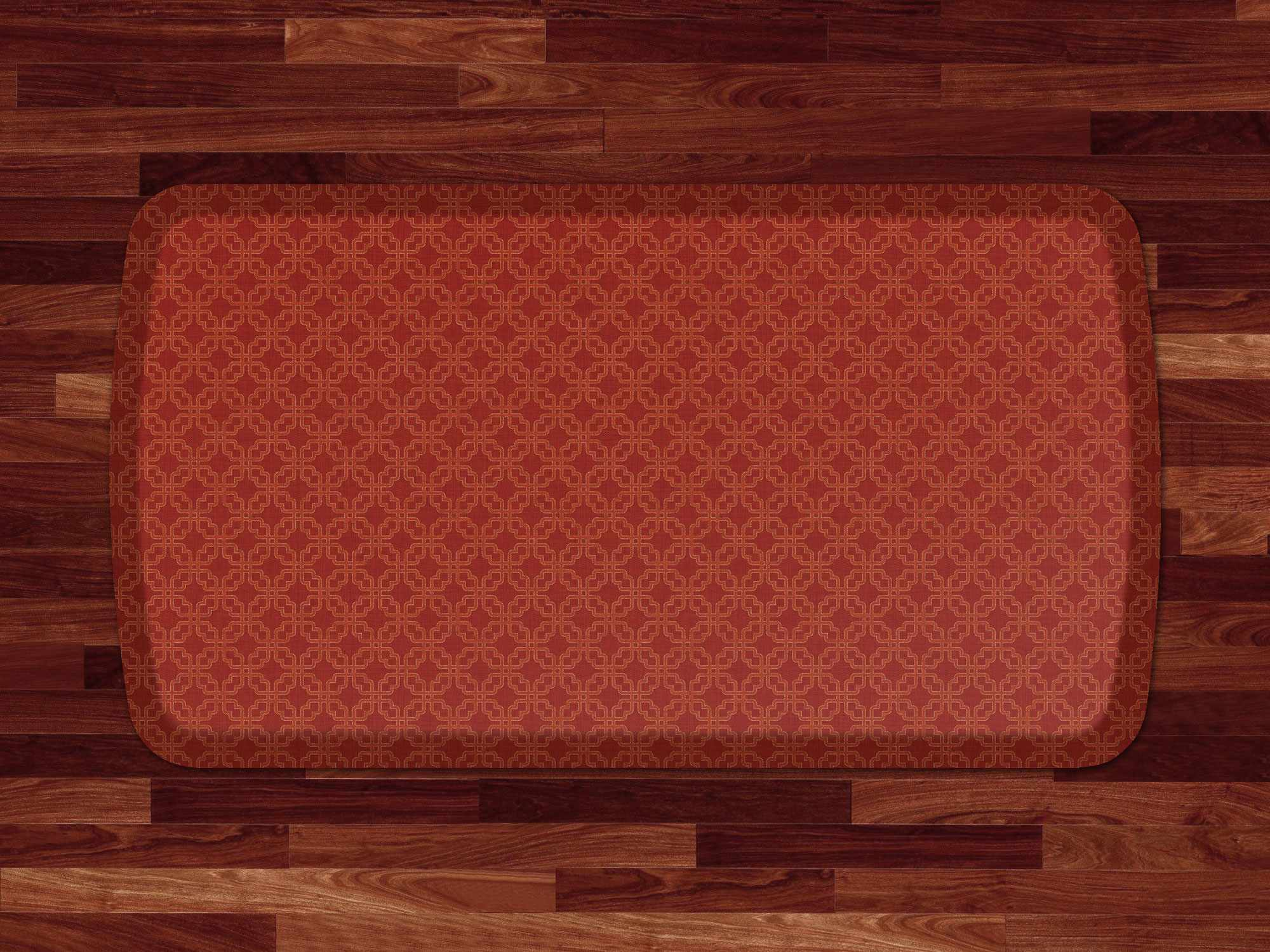 Contemporary Kitchen Floor Mats Square Lattice Anti