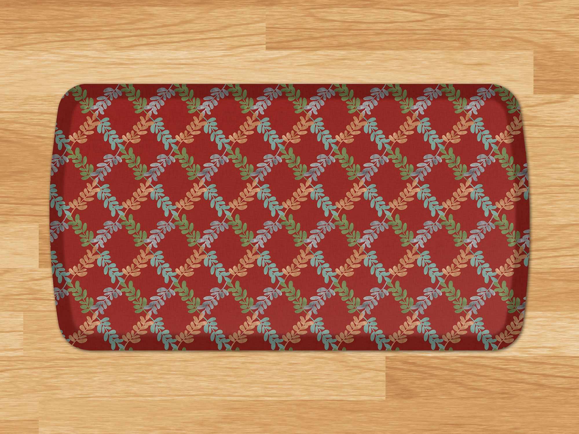 Blue Kitchen Mat Trellis Anti Fatigue Mat Gelpro Elite