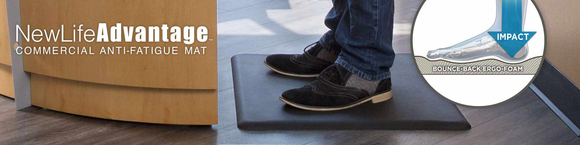 Proudly Made In The Usa Eco Friendly Newlife Advantage Anti Fatigue Floor Mat Offers A Superior Comfort Solution To Employees Who Stand At Work