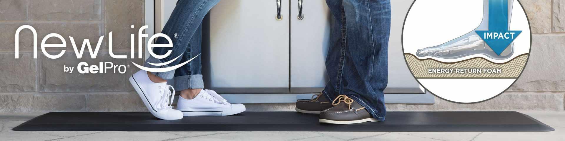 Newlife Bio Foam Comfort Floor Mats By Gelpro Provide